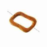 Bayong wood irregular square hoop design 50mm