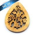 Laser cut hambabalod wood teardrop 57mm