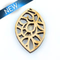 Laser cut himbabawod wood pendant 46mm
