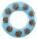 Majong-majong seeds inlay donut blue