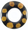 Sunflower vine inlay donuts black 60mm