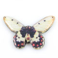 paper print wood pendant oressid butterfly