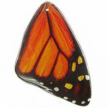 Laminated butterfly paper print Red large