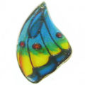 Laminated butterfly paper print wrapped wood