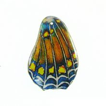 Laminated butterfly paper print wrapped wood small multi color
