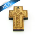 Mahogany wood cross laser designed 18mm