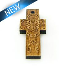 Mahogany cross laser designed 13.5mm