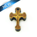 Mahogany wood cross laser designed 14mm