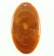 Albutra wood inlay oval brown 57x32mm