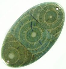 Albutra wood inlay oval green 76x44mm