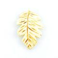 Burnt whitewood leaf design