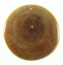 Alangingi wood inlay natural 50mm round