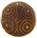 Albutra wood inlay round brown 60mm