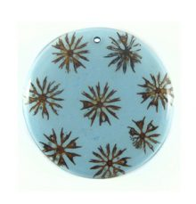 Majong majong seeds inlay round blue