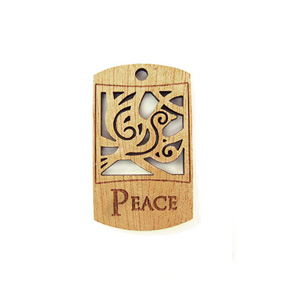 wooden charm natural-peace 43mmx25mm