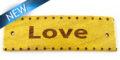 Message bracelet love component nangka wood