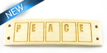 Message bracelet peace component whitewood