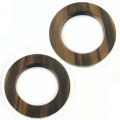 tiger ebony rings 46mm w/ 30mm ID X 6mm