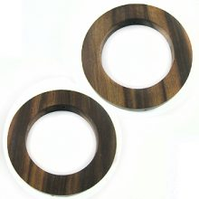 Tiger ebony wood rings 46mm