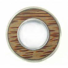Palmwood donut 38mm silver finish