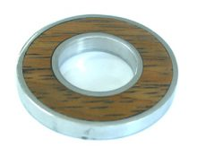 Bayong round donut silver finish