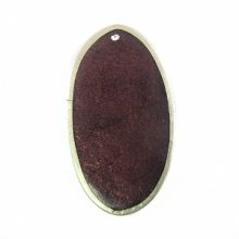 Oval Capiz Frame 25x45 Plum wholesale pendants