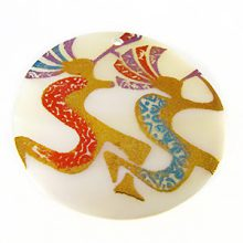 Makabibi Round Painted Embossed Double Kokopelli