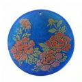 Blue Round Laminated Capiz Shell 40mm
