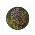 Olive Green Round Laminated Capiz Shell 30mm