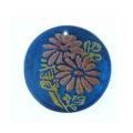 Blue Round Laminated Capiz Shell 30mm