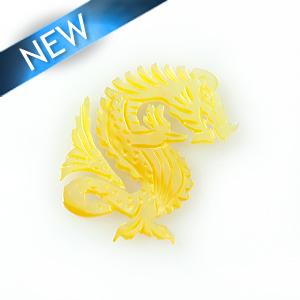 MOP Laser cut pendant dragon wholesale