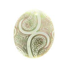 Laser Etched Blacklip Oval Shell Pendant