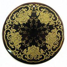 Blackpen Shell Gold Star Design Laser Engraved Pendant