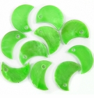 Silver Green Half Moon Hammer shell Beads 10mm