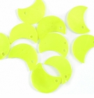 Yellow Green Half Moon Hammer shell Beads 10mm