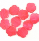 Red Flower Hammer shell Beads 10mm