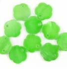 Silver Green Flower Hammer shell Beads 10mm