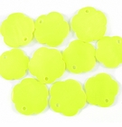 Yellow Green Flower Hammer shell Beads 10mm