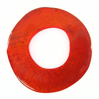 Capiz Shell Irregular Donut 50mm - Orange