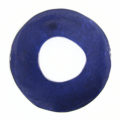 Capiz Shell Irregular Donut 50mm Electric Blue