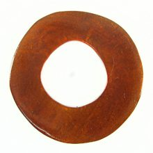 Capiz Shell Irregular Donut 50mm - Brown