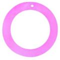 "Hammer shell ""O"" Ring 45mm Pink Shell Beads"