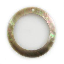 Brownlip Shell Hoop Pendant 45mm