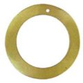 "Gold ""O"" Ring Hammer shell Hoop Pendant 45mm"