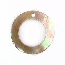 "Brownlip ""O"" Ring 20mm Plain Shell Beads"