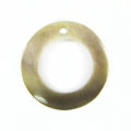 "Blacklip ""O"" Ring 20mm Plain Shell Beads"
