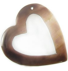 Tab shell heart side hole wholesale pendant