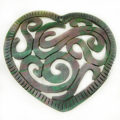 Blacklip heart carved wholesale pendant