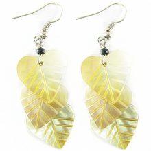Blacklip triple leaf earring wholesale earrings
