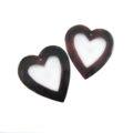 Tab shell heart top center hole wholesale pendant